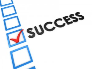 Checkbox next to the word 'success'