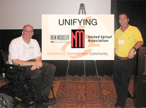 Paul Tobin of the United Spinal Association and Jeff Leonard of New Mobility