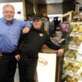 Mark Wafer and a Tim Horton's employee